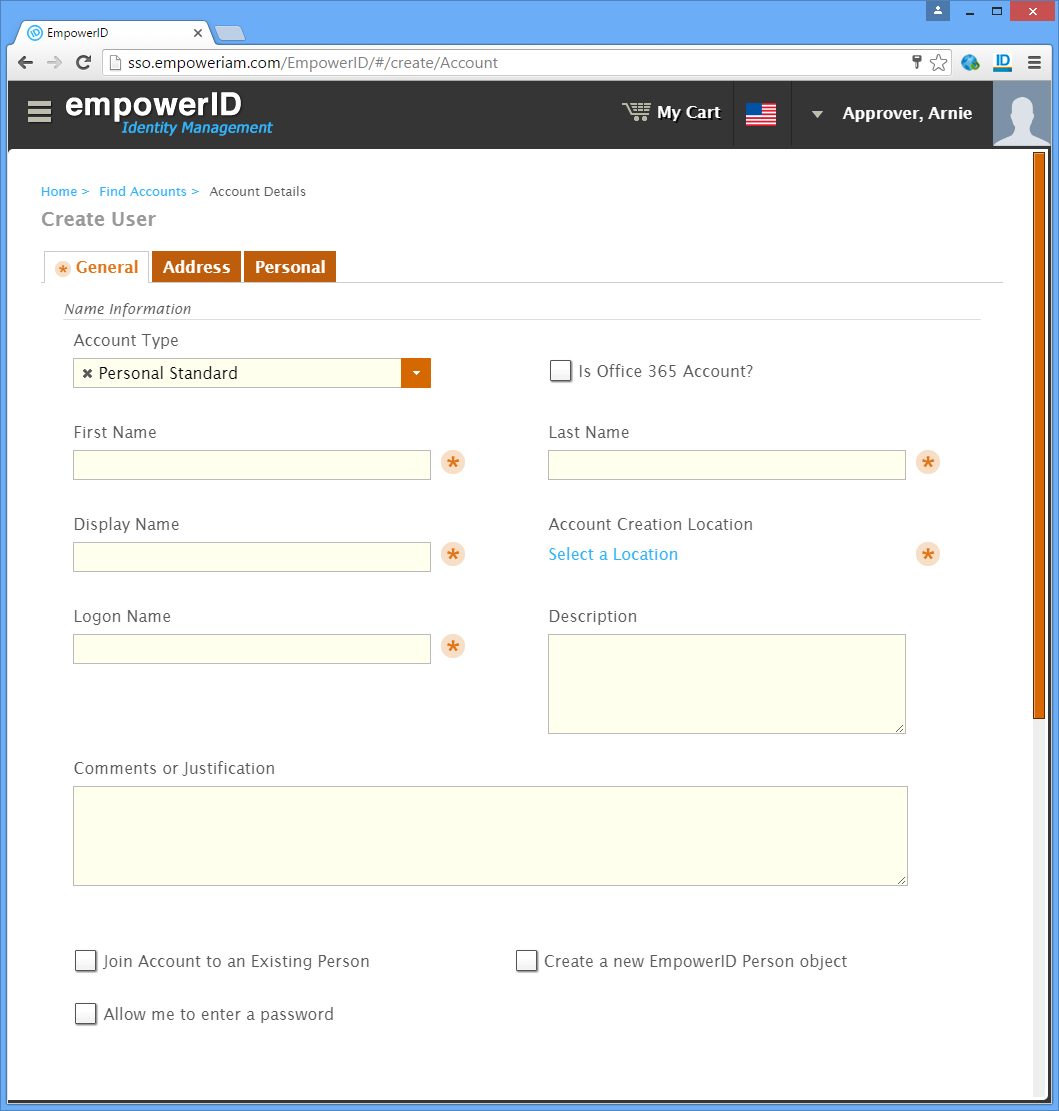 Configuring the EmpowerID Windows Server Agent Account